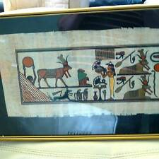 EGYPTIAN PAINTING  beautiful colours on Papyrus paper -stunning