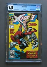 X-FORCE #15 • CGC 9.8 NM/M WP • Early Deadpool Versus Cable Key 1992 MARVEL