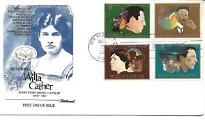 US Scott #1487, First Day Cover 9/20/73 Red Cloud COMBO Willa Cather