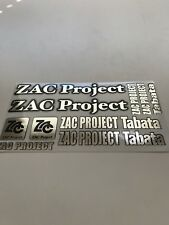 1/10 - 1/8 DECAL/STICKER SHEET/RC/MODEL CAR-Tamiya/HPI/decals/ZAC PROJECT Chrome