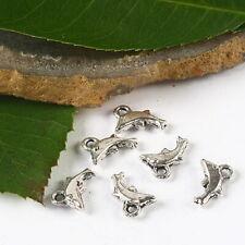 40pcs Tibetan silver dolphin charms h2394