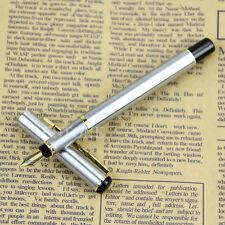 Unique Design BAOER 801 Stainless steel Silver Fountain Pen Nib Fine