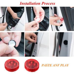 2Pc Car Accessory Signal Lamp Door Opened Warning Light Anti-collid Flash Cautio