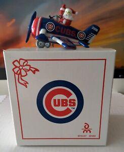Danbury Mint 2006 Ceramic Chicago Cubs Victory Plane Christmas Ornament