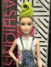 Barbie Fashionistas Barbie Doll # 124 Petite Green Hair Mohawk Shaved Sides