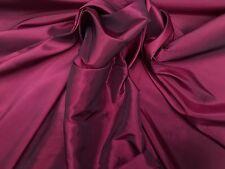 Vino de Borgoña Tiro negro dos Tonos cortinas de tafetán Boda Traje de Novia de tela