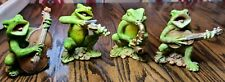 Vintage Frog Band Musicians Figurines Large- Hand-painted- Italy