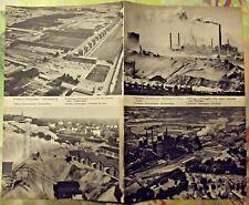 1962 Carte & Image Allemagne Völklingen usine sidérurgique Gladbeck houillère VW