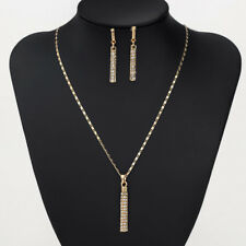 18K placcato oro cristalli Swarovski Element Collana Orecchini Pendenti Gioielli Set