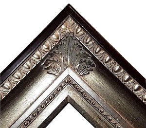 """4.25"""" fancy Silver Leaf Ornate Oil Painting Wood Picture Frame 650S 30x40 36x48"""