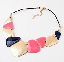Bib Pendant Chain Statement Necklace Fashion Vintage Women Crystal Chunky Choker