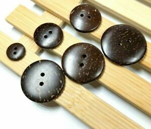 Round Flatback 2-Holes Design Buttons Coconut Shell Materials Sewing Accessories