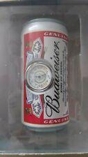 Budweiser Beer-Can Clock Analog Heavy NIB