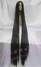 New Popular New Extra Long black Cosplay Wig - 60 inch High Temp 150cm