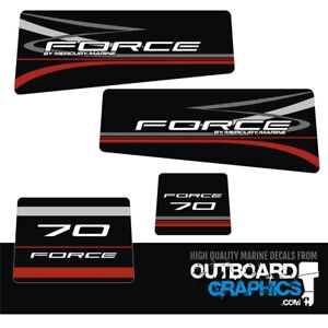 Mercury Force 70hp outboard decals/sticker kit