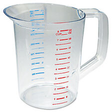 Rubbermaid Commercial Bouncer Measuring Cup 2qt Clear 3217CLE