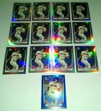 (13) Card 2014 Bowman Chrome Bradley Zimmer Refractor Rookie Lot!!Future Star!!!