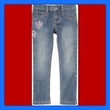 NWT Girls 5 PLUS Gymboree PENGUIN CHALET denim Blue JEANS PANTS adj waist Cot/Sp