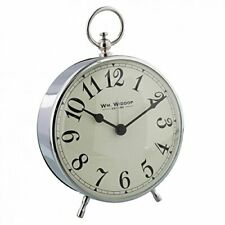Retro Loud Metal Glass Plastic Classic Round Case Quartz Alarm Clock