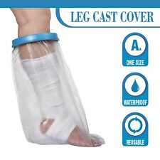 Adult Waterproof Leg Cast Cover for Shower ~ Keep Bandages & Casts Dry in The Sh