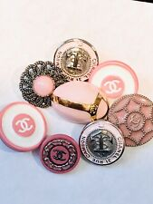 Lot Of 8 Pink Color Chanel Designers Collectibles Buttons