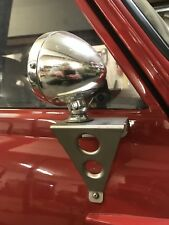 Classis Mini Race Style Mirror mount brackets Trackday Satin Finished Stainless