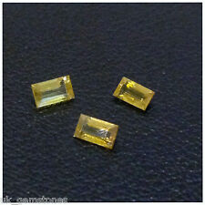Natural Yellow  Baguette Sapphire VSI  0.15ct  Single Stone,