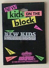 Vintage New Kids On The Block Pins Original 1990 Big Step Productions