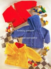 (488) 3M-8y, Easy Knit Baby-Boys-Girls Jackets, Chunky Knitting Pattern, 6 sizes
