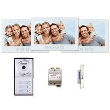 "Video Intercom Entry - MT-Series 7"" Monitors 3-Tenant 2-Wire System Kit"