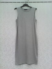 BNWT  SIZE 14  SILVER GREY  SLEEVELESS RIBBED  DRESS BY MARKS & SPENCER