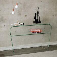 Consolle vetro curvo Eta - soggiorno, salotto, vetro curvato, 12mm, ripiano