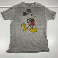 Disney T Shirt Mickey Mouse Womens Size XL Gray Soft Casual Faded Ladies Tee