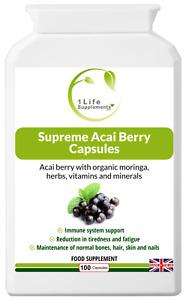 Supreme Acai Berry Capsules, 1065mg with resveratrol and grape seed