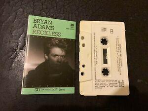 BRYAN ADAMS Reckless  COMPACT CASSETTE
