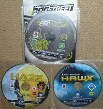JOB LOT 3 x SONY PS3 GAME DISCS Need for Speed Pro Street Haze Tom Clancy HAWX