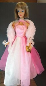 Mattel Vintage Reproduction American Girl  Barbie In Gown & Pretty n Pink Stole