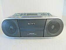 Sony Cfd-S01 Cd-R/Rw Radio Cassette Player Boombox Gray Silver Euc #3013