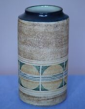 Troika  - LARGE LIPPED CYLINDER VASE - Decorated by Alison Brigden