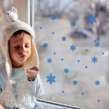 Blue Snow Frozen Window decor Wall sticker Christmas gift wall decals Mural