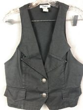 Pinky Women's Size L Vest Gray Two Button