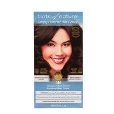 3 X Tints of Nature Natural Medium Brown4n Permanent Hair Colour 130ml
