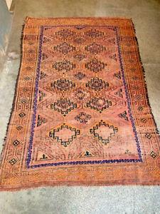 COLLECTORS' PIECE Antique Jamshiri Geometric Pattern Maldari Jan Bag Tribal Rug