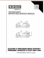 2001-2009 E-Z-GO Electric Freedom Fleet Service Repair Manual, have it TODAY