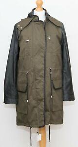 ZARA Khaki Green Parka Jacket Coat Size S Removable hood and lining BNWOT