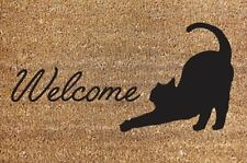 New 40x60cm Cat Clean Welcome Door Mat House Home Heavy Duty Carpet Rug Garden