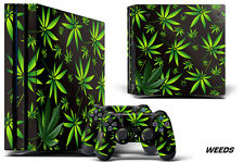 Skin Decal Wrap For PS4 Pro Playstation 4 Pro Console + Controller Stickers WEED