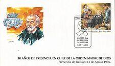 Chile 1996 FDC 50 años Presencia en Chile de la Orden Madre de Dios