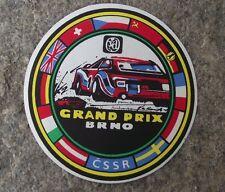 usa grand prix tschechoslowakei futter brno auto rally racing race sticker decal