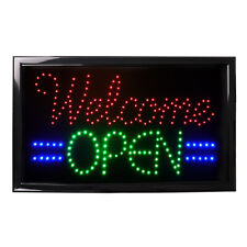 """Welcome Open"" Led Neon Light Business Sign Ultra Bright Animated On/Off Switch"
